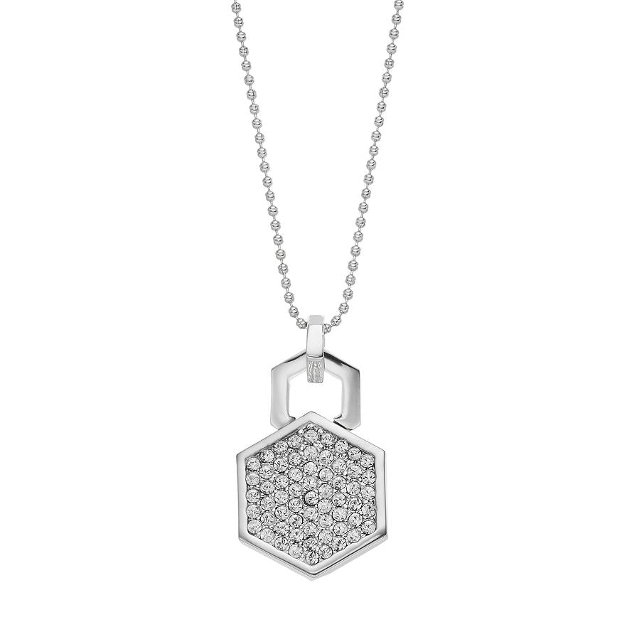 Hexagon - Pendant Necklace : Silver