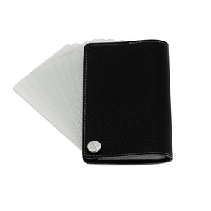 The Card Holder - Pebbled Black
