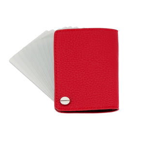 The Card Holder - Pebbled Red