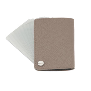 The Card Holder - Pebbled Taupe