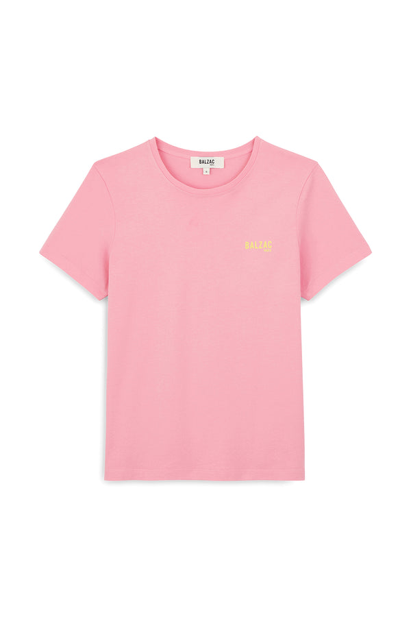 tee-shirt-balzac-paris-rose-et-jaune