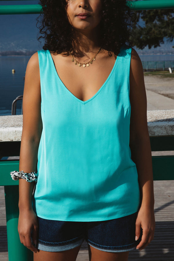 top-max-turquoise-decollete-dos-viscose