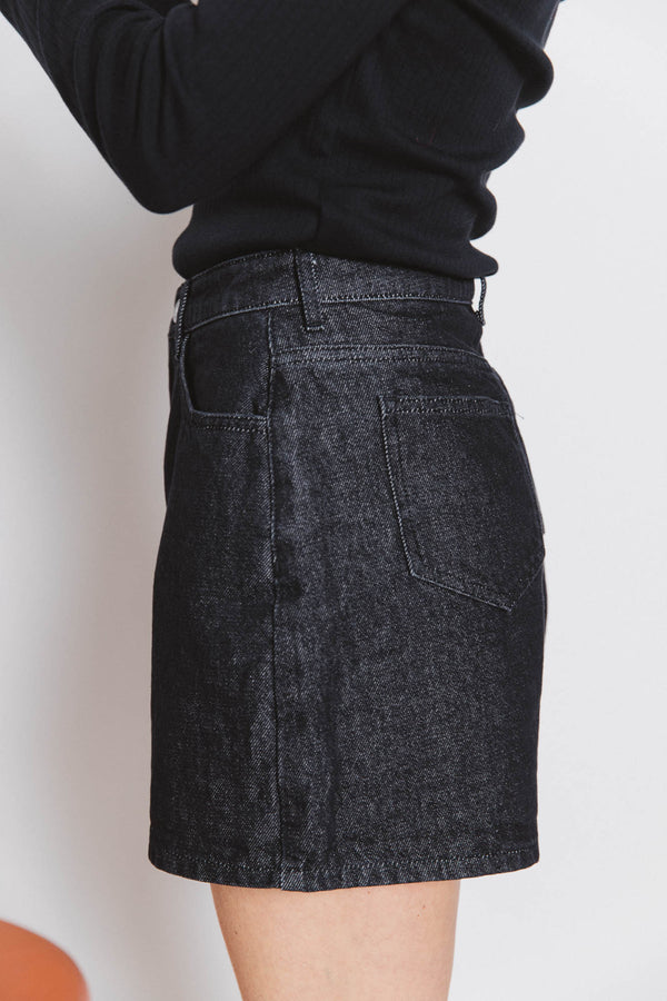 short-maylone-noir-chine-fonce-jean-coton