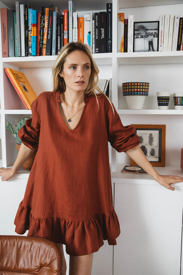 ivresse-dress-in-terracotta-linen