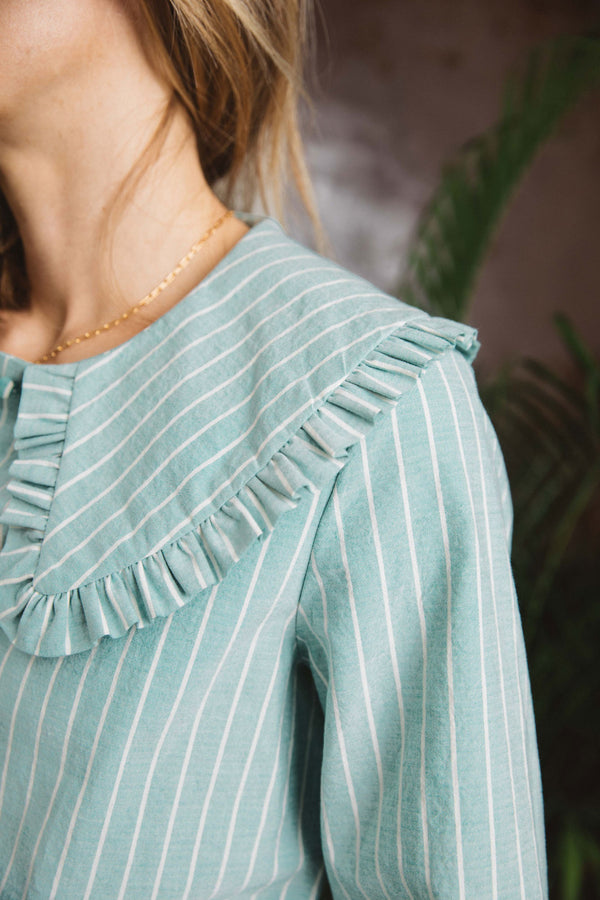 gian-green-striped-shirt