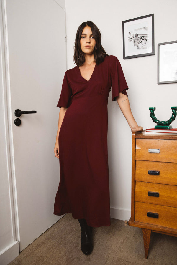 robe-geraldine-bordeaux