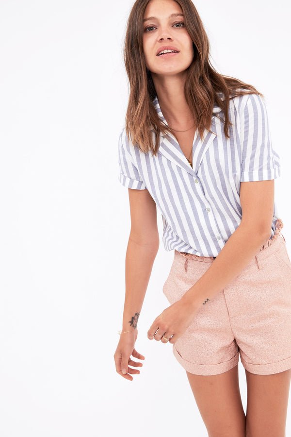 chemise-george-manches-courtes-a-rayures