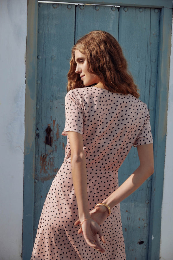 robe-january-rose-a-pois