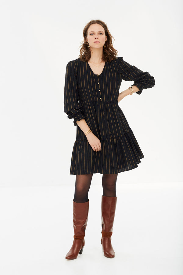 robe-mandy-noire-a-rayures