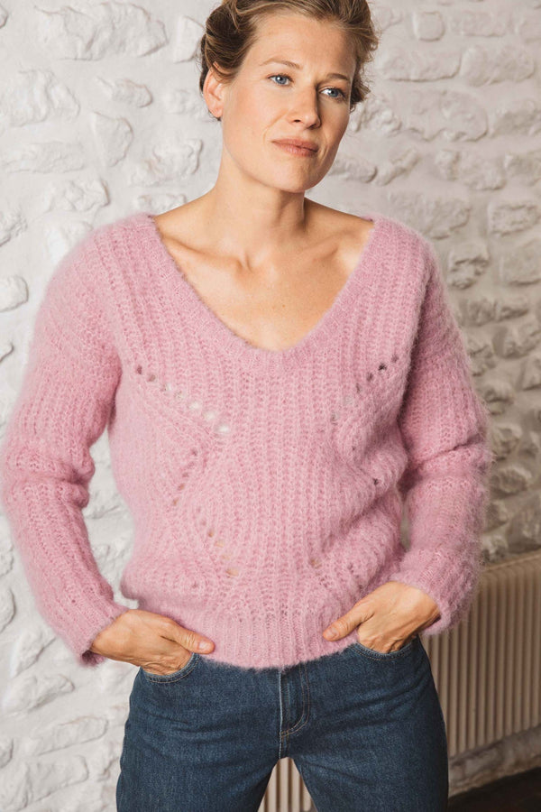 pull-femme-rose-laine-mohair-alpaga-nylon-biodegradable-riley