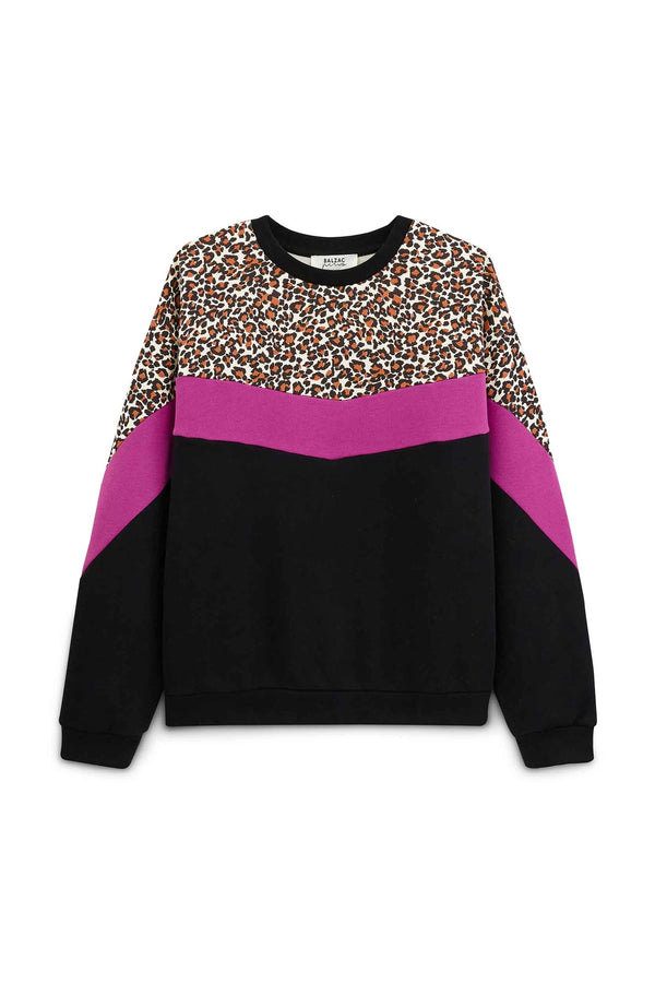 harlow-sweat-shirt-colorblock-fuchsia-leopard-in-organic-cotton