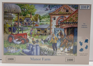 The House of Puzzles Manor Farm 1000 piece jigsaw