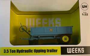 "UH6215 UNIVERSAL HOBBIES WEEKS ""POPULAR"" 3.5 TON HYDRAULIC TIPPING TRAILER"