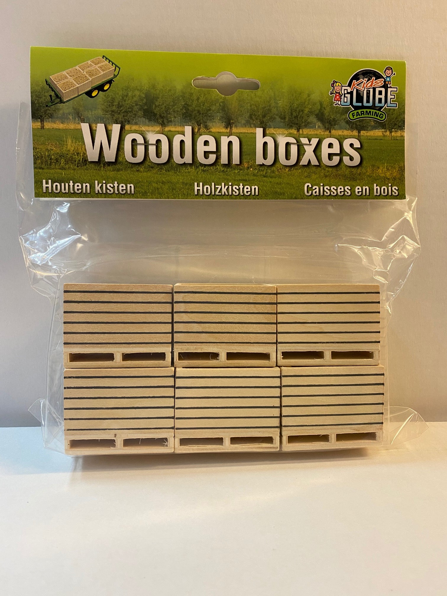 Kids Globe Farming Wooden Boxes