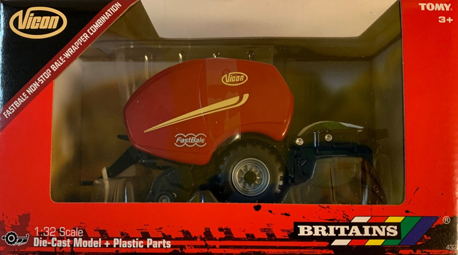 43221 BRITAINS VICON FASTBALE NON-STOP BALE-WRAPPER COMBINATION