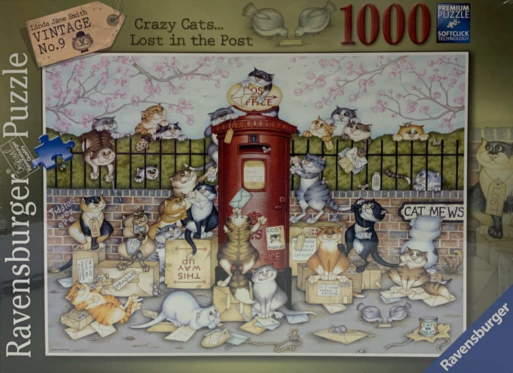 Ravensburger Crazy Cats... Lost in the Post 1000