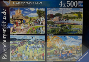 Ravensburger 4 x 500 Happy Days No.3