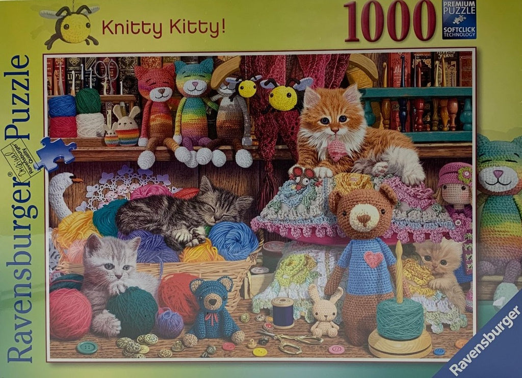 Ravensburger Knitty Kitty 1000 piece jigsaw puzzle