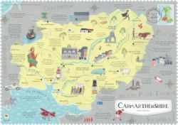 Wales on the Map: Carmarthenshire Poster (English)