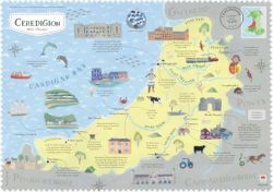 Wales on the Map: Ceredigion Poster (English)