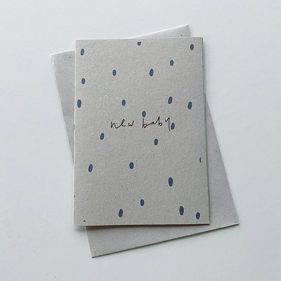 New Baby Card - Grey