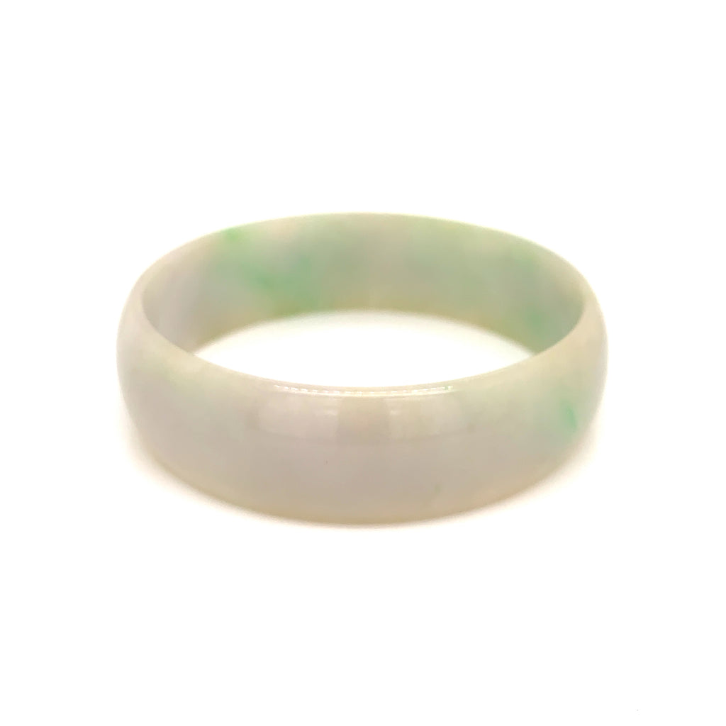 SOLD OUT: 51.6mm A-Grade Natural Jadeite Modern Round Bangle No.151638
