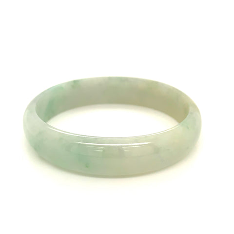53.3mm A-Grade Natural Jadeite Modern Oval Bangle No.151524