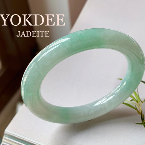 53.9mm A-Grade Jadeite Traditional Round Bangle No.151582