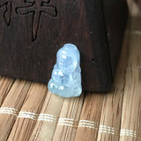 Icy A-Grade Type A Natural Jadeite Jade Mini Baby Buddha Pendant No.170317