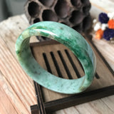 55.9mm A-Grade Type A Natural Jadeite Jade Modern Round Bangle No.151408