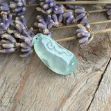 SOLD OUT: Icy A-Grade Type A Jadeite Jade Green Pea-pod Pendant