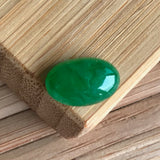 SOLD OUT: Imperial Green A-Grade Type A Natural Jadeite Jade Oval Cabochon No.130003