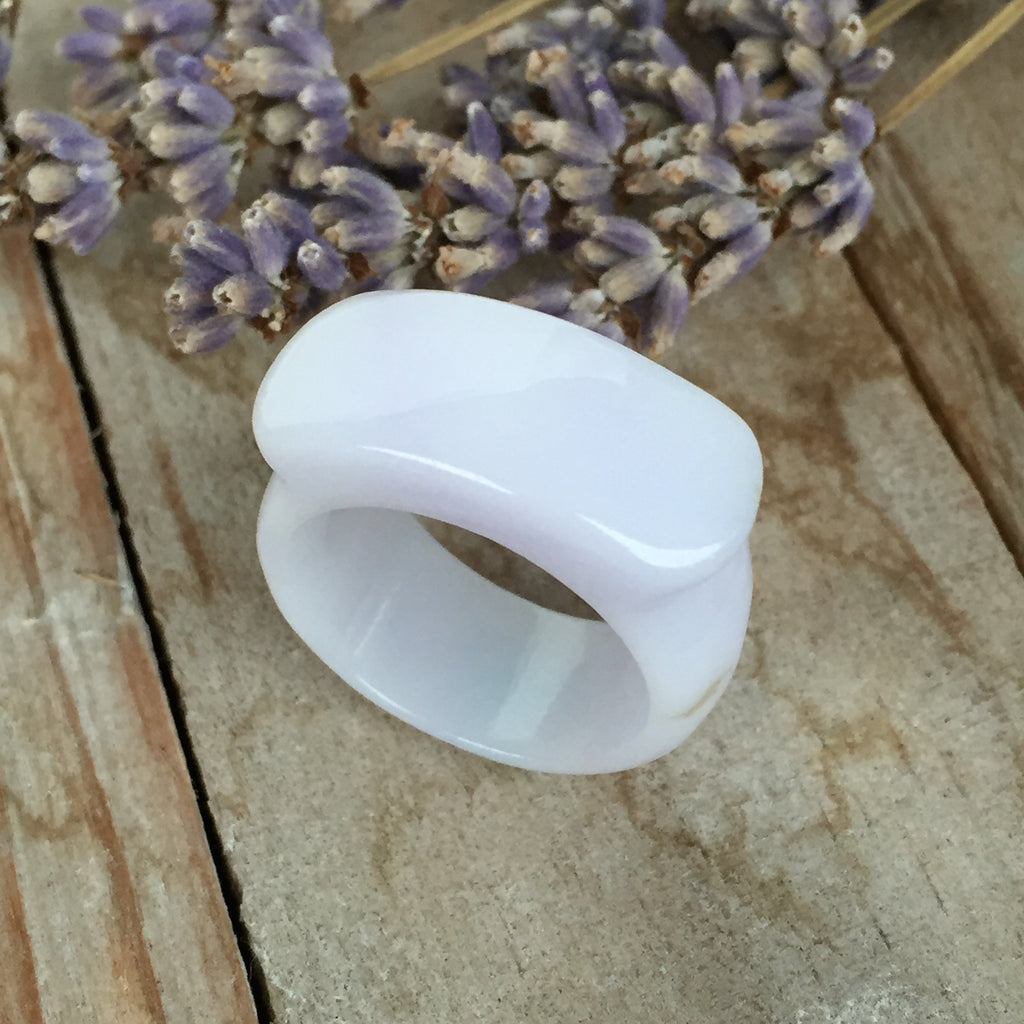 SOLD OUT: A-Grade Type A Jadeite Jade Lavender Ring