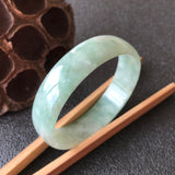 SOLD OUT: 53.5mm A-Grade Type A Natural Jadeite Jade Modern Round Bangle No.151446