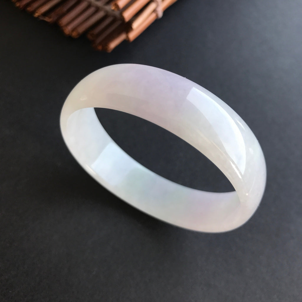 SOLD OUT: 52.1mm A-Grade Type A Jadeite Jade Modern Round Bangle No.151281