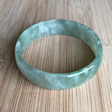 52.7mm A-Grade Type A Natural Jadeite Jade Green Modern Round Bangle No.151450