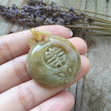 SOLD OUT: A-Grade Type A Jadeite Jade Longevity Ruyi Pendant