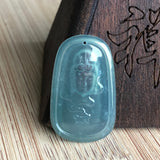 Icy A-Grade Natural Jadeite Goddess of Mercy Pendant No.170389