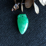 SOLD OUT: A-Grade Type A Natural Green Jadeite Jade Peach Pendant No.170397