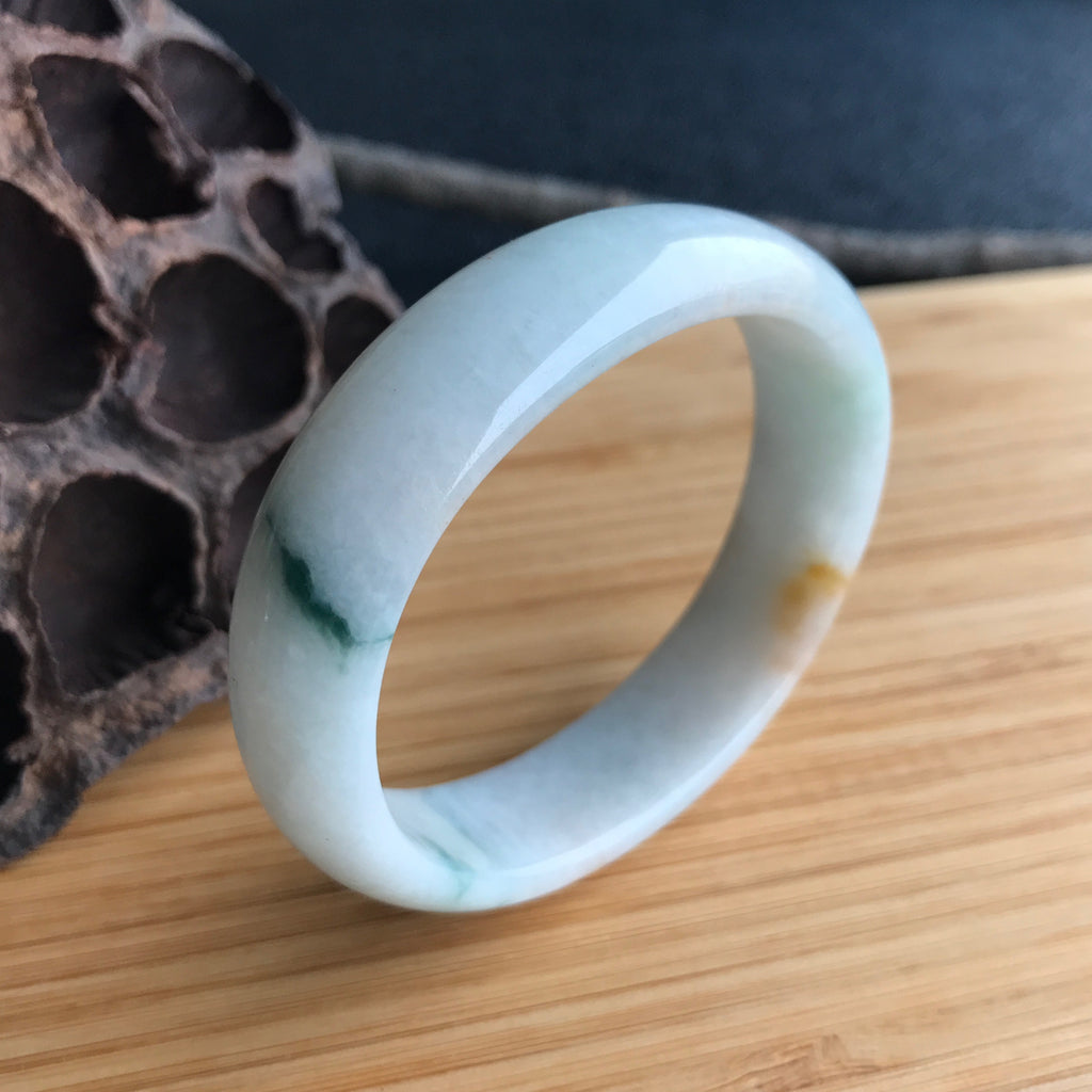 SOLD OUT: 53.8mm A-Grade Type A Jadeite Jade Modern Oval Bangle No.151413