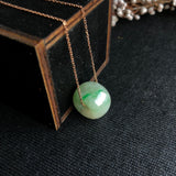 A-Grade Type A Natural Jadeite Jade Barrel Pendant No.170329