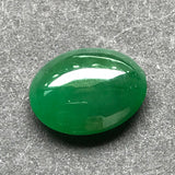 SOLD OUT: Imperial Green A-Grade Type A Natural Jadeite Jade Cabochon Piece No.25033