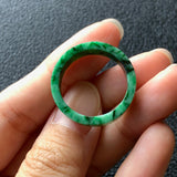 Green A-Grade Type A Natural Jadeite Jade Ring Band No.161270