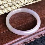 SOLD OUT: 50.8mm A-Grade Type A Natural Lavender Yellow Jadeite Jade Modern Round Bangle No.151282