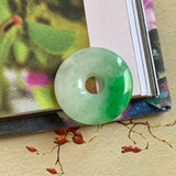 A-Grade Natural Moss on Snow Jadeite Donut No.171348