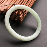 51.8mm A-Grade Type A Jadeite Jade Traditional Oval Bangle No.151269