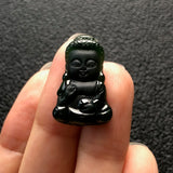SOLD OUT: A-Grade Type A Natural Omphacite Jadeite Jade Baby Buddha Pendant No.170410