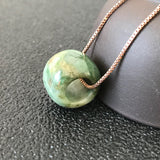 SOLD OUT: A-Grade Type A Natural Jadeite Jade Barrel Pendant No.170349