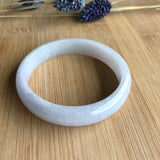 SOLD OUT: 52.5mm A-Grade Type A Natural Light Lavender Jadeite Jade Modern Round Bangle No.151451
