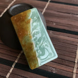 SOLD OUT: Icy A-Grade Type A Natural Jadeite Jade Dragon Pendant No.170356